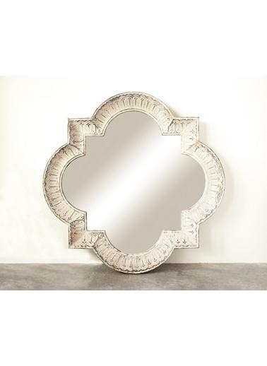 Warm Design Metal Çerçeveli Ayna Beyaz